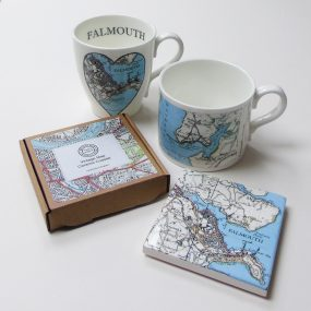 Falmouth Vintage Map Mugs And Coasters By Glorious Mud