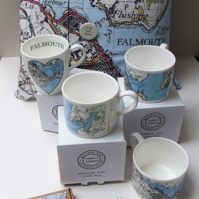 Falmouth Vintage Map Range By Glorious Mud Ceramics