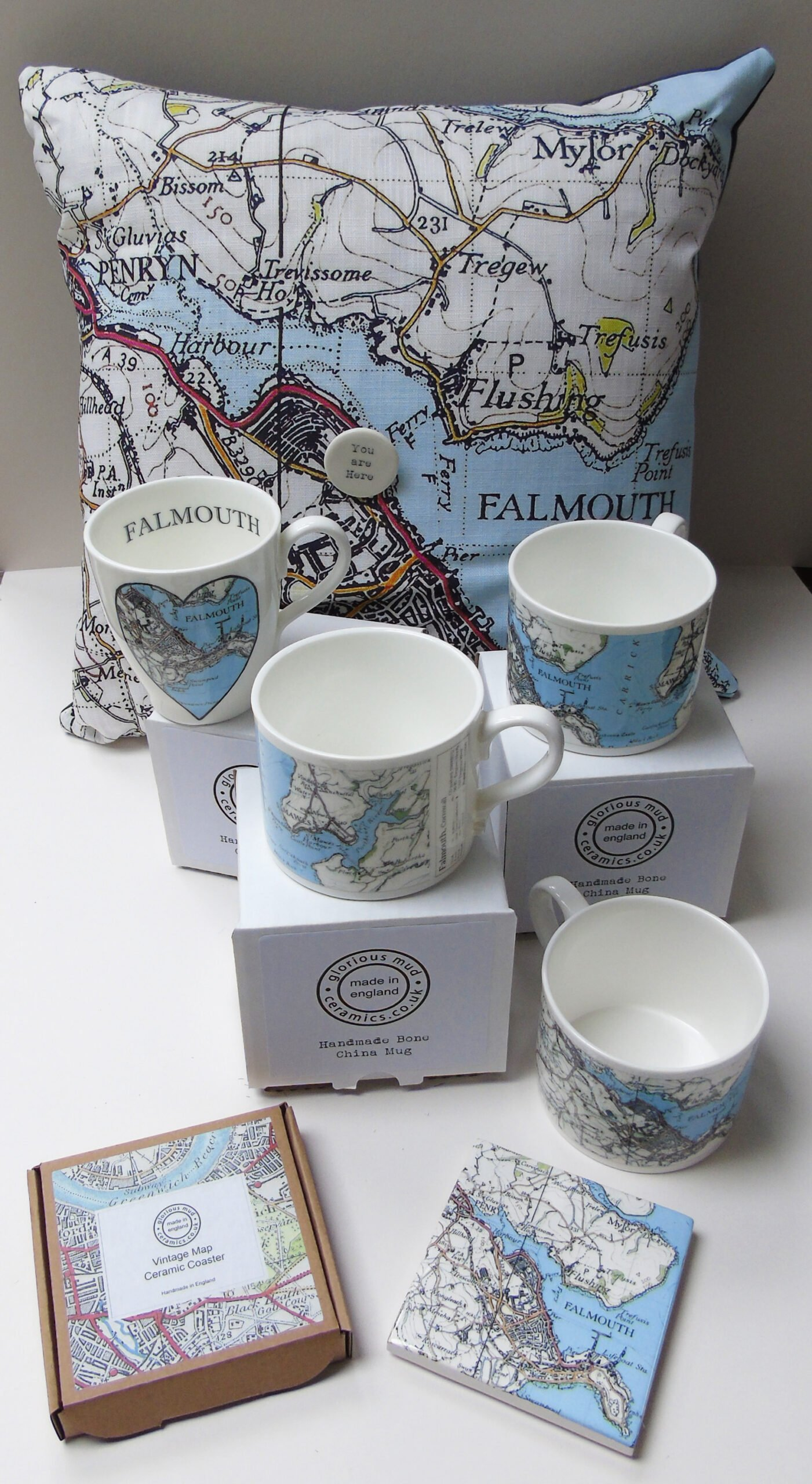 Falmouth Vintage Map Range by Glorious Mud