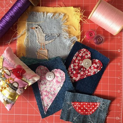 Selection Of Handmade Textile Cards By Tanya Ingleton
