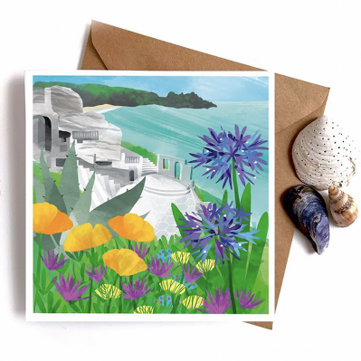 Greeting Card With Illustration Of Minack Theatre By Gill Wild