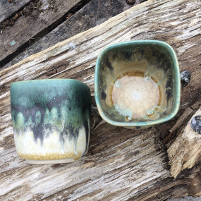 Pair Of Small Ceramic Bowls Handcrafted By Potting In Penryn