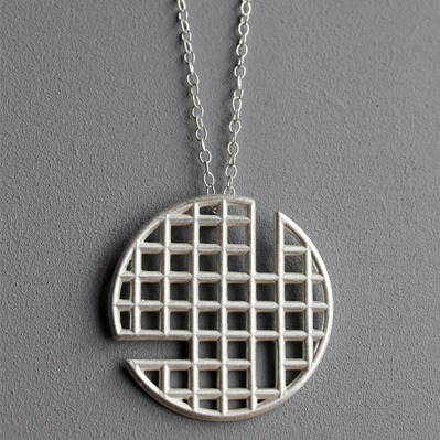 Silver Structures Pendant Handcrafted By Zaleika Anna