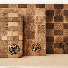 Wooden chopping boards handcrafted by Wusabli Furniture