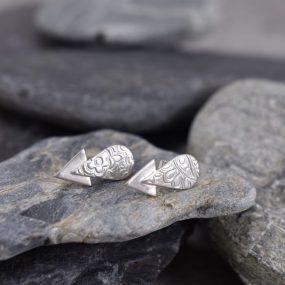 """Silver """"Arrow"""" Stud Earrings"""