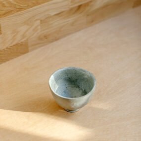 Grey stoneware bowl by Sarah Cooling