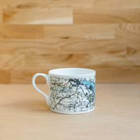 White Porcelain Mug Printed With Vintage Map Of Falmouth By Glorious Mud