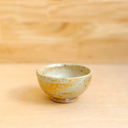 Small yellow wood fired stoneware bowl by Bridie Maddocks