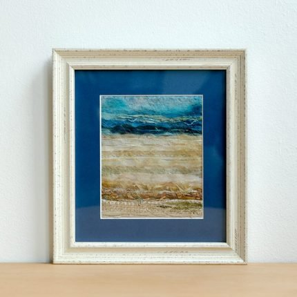 Textile picture resembling a beach by Tanya Ingleton