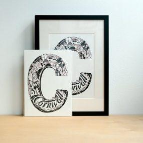 Cornwall Letter Print