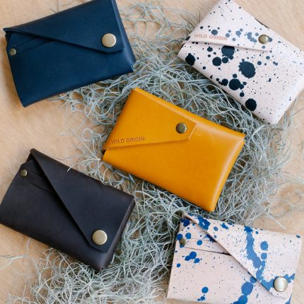 Leather card holders by Wild Origin