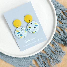 Flushing Blue/Yellow Earrings