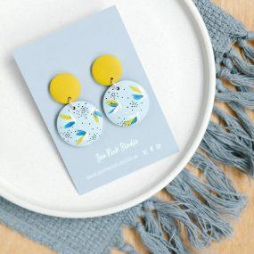 Flushing Blue/Yellow Earrings