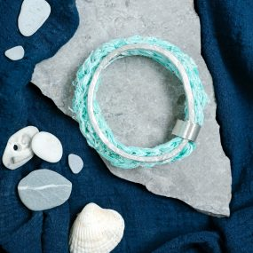 Eco Silver Bangle with Ghostnet