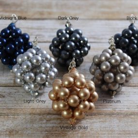 Group Of Beaded Ball Pendants Made From Swarovski Pearls By Article Jewellery