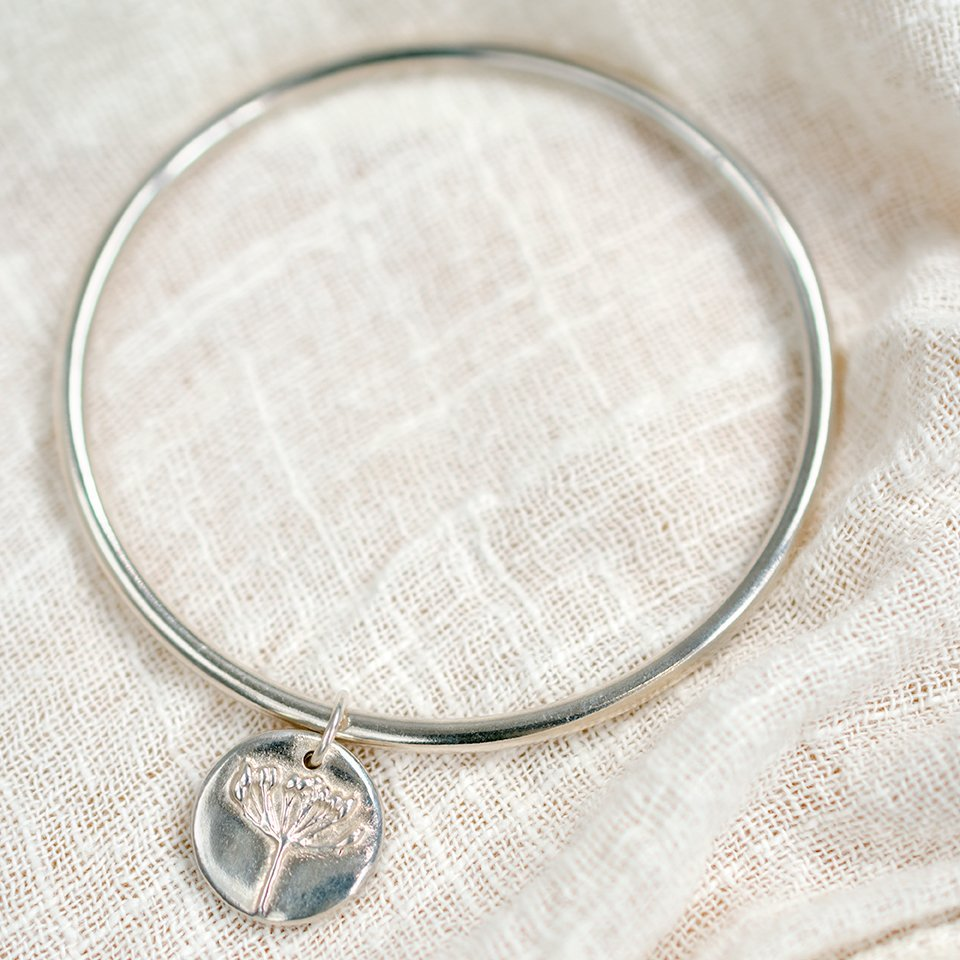 Agapanthus Sterling Silver Bangle