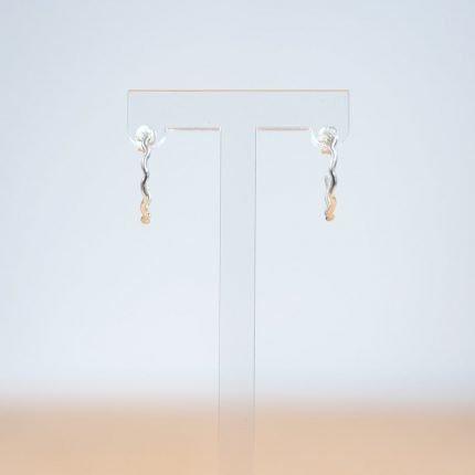 Rippled Wire Hoop Sterling Silver Earrings by Porth Jewellery