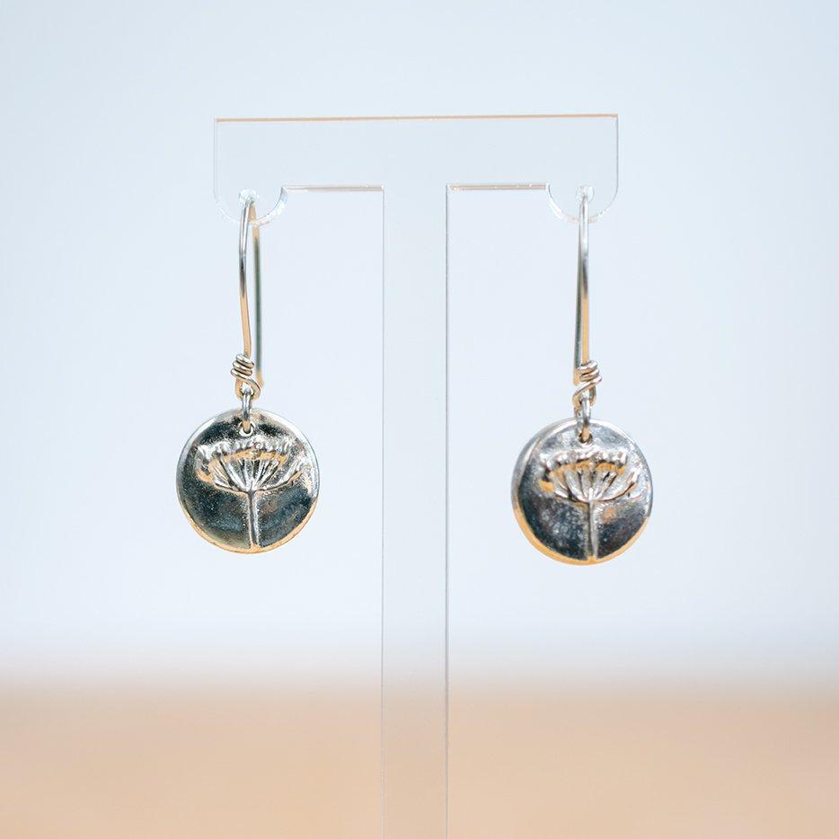 Agapanthus Sterling Silver Hook Earrings