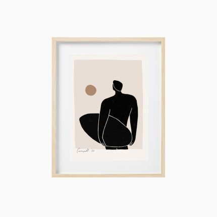 Giuseppe contemporary art print of surfer by Scalet Paperie