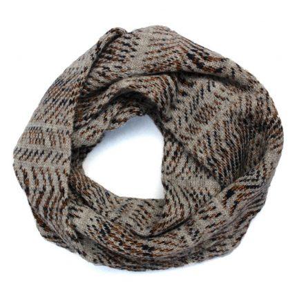 Loop scarf in beige and browns by Jessye Boulton