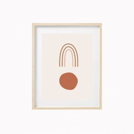 Rainbow contemporary blush print by Scalet Paperie