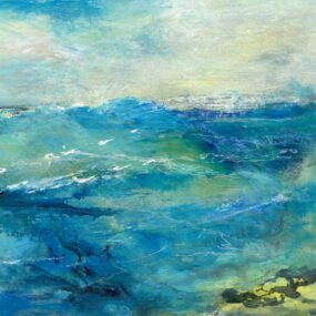 Close Up Of Waves Print From Original Painting By Maggie Cochran