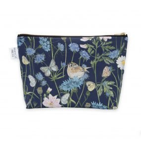 Navy Garden Print Washbag by Particle Press