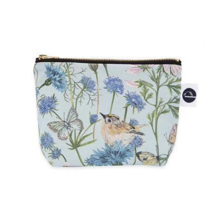 Light Blue Garden Print Makeup Bag by Particle Press