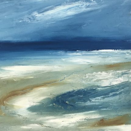 Close up of Shifting Sands print from original painting by Maggie Cochran