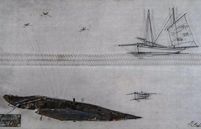 Wire Boat Sculpture - Ben Baker