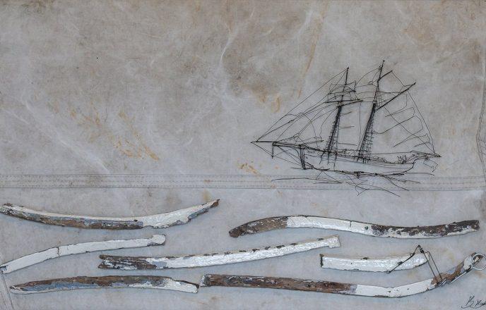 Anny Ship Wire Sculpture - Ben Baker