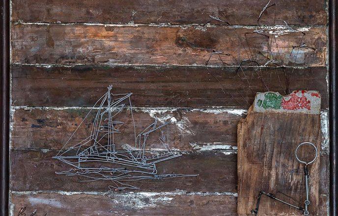 Iris Ship Wire Sculpture - Ben Baker