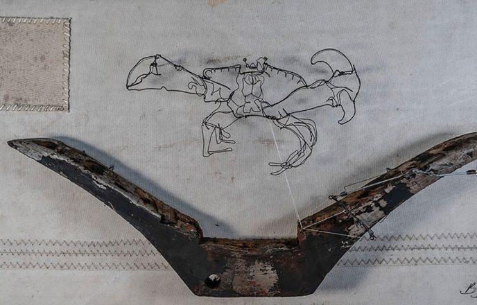 Crab Wire Sculpture - Ben Baker