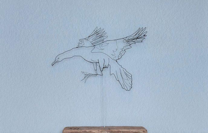 Seagull Wire Sculpture - Ben Baker