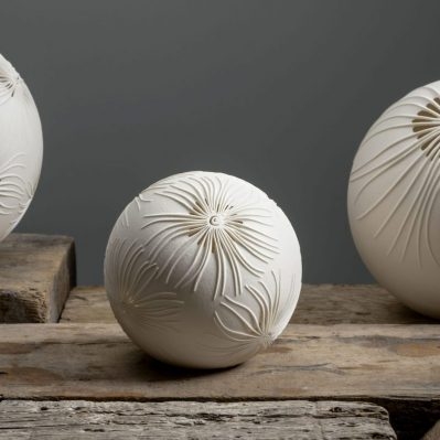 Group Of Porcelain Lamps Handcrafted By Amy Cooper Ceramics