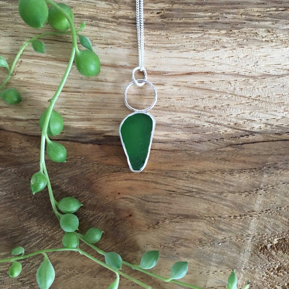 Porth Jewellery - Pendant Made At Seaglass Workshop