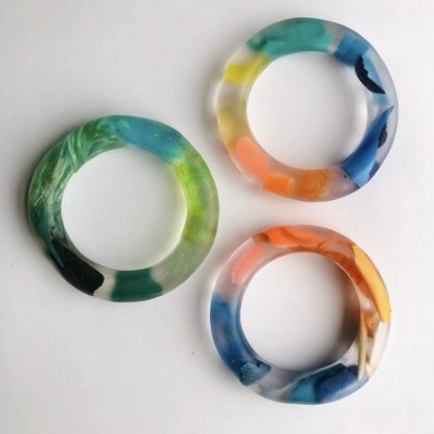 Sea Plastic In Resin Bangles By Washed And Found