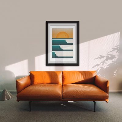 Sunset Surf Print By Single Fin Collective