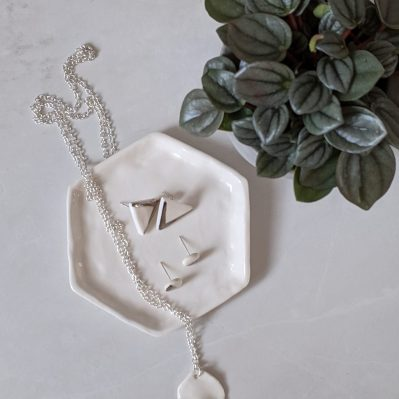 Porcelain Jewellery With Platinum Accent By Rach Richardson