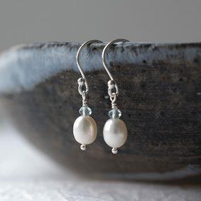 White Pearl Earrings By Sarah De Larrinaga