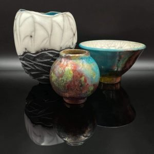 Selection Of Raku Ceramic Work By Suzanne Langstaff