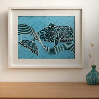 The Whale Laser Cut Art By Lazique