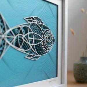 The Fish Laser Cut Art By Lazique