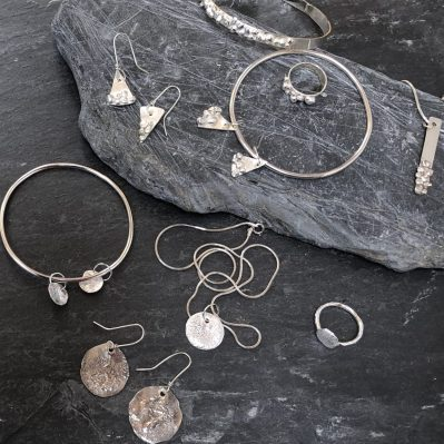Selection Of Silver Jewellery Handcrafted By C Jane Jewellery