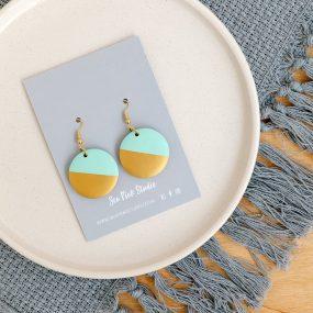 Mint Dip Hook Earrings