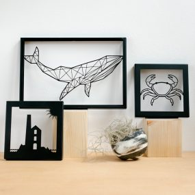 Group Of Polygon Bear Laser Cut Metal Pictures