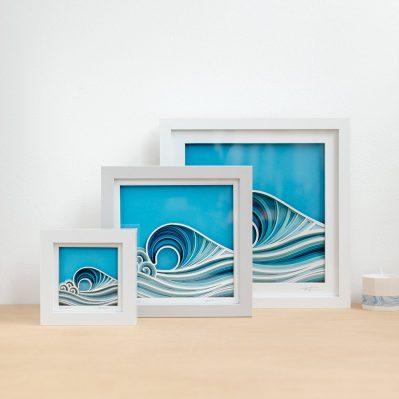 Laser Cut Wave Framed Artworks By Lazique
