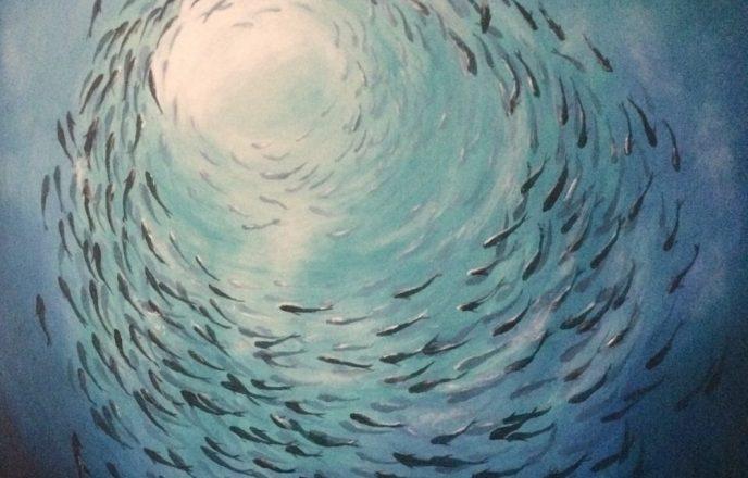 Towards The Light - Original Painting By Mick Dobie