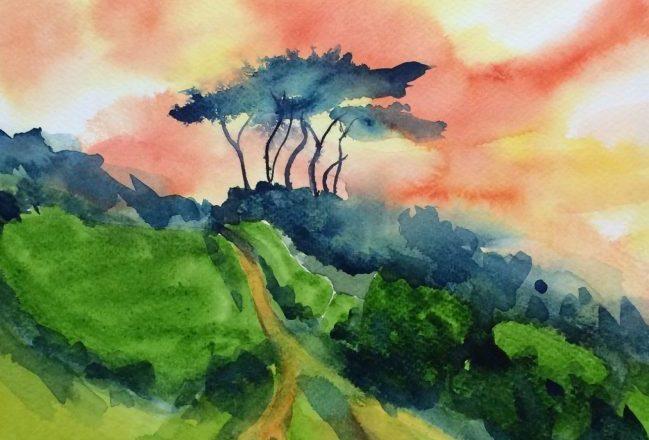 Helford Trees - Original Painting By Mick Dobie