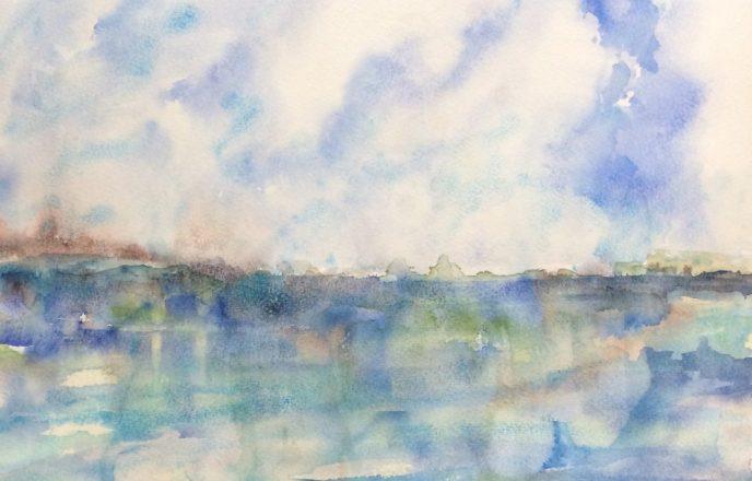 Across The Helford River - Original Painting By Mick Dobie